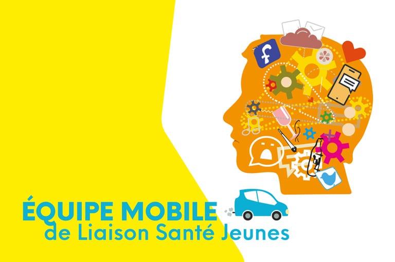 Carte de visite pour l'Équipe Mobile de Liaison Santé Jeune - Recto