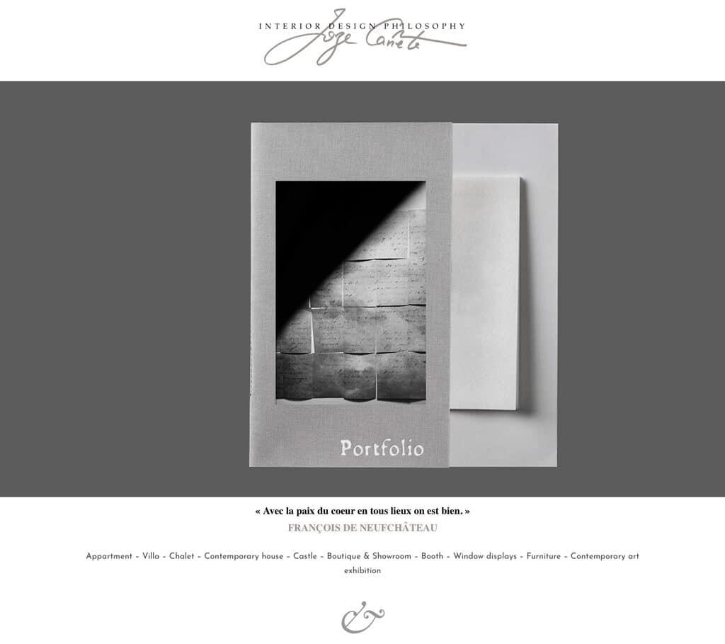 Page du Portfolio du site de l'agence Interior Design Philosophy - Vue d'ensemble 1