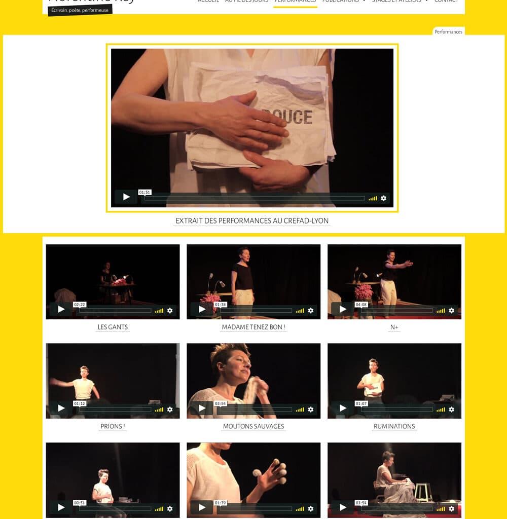 Page des Performances de Florentine Rey