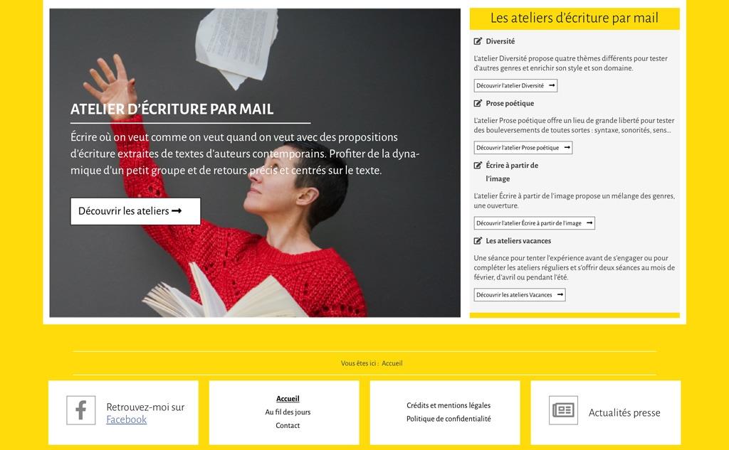 Page d'accueil du site de Florentine Rey - Vue détail 5
