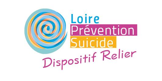 Logotype du dispositif Relier pour l'association Loire Prévention Suicide située à Saint-Étienne.